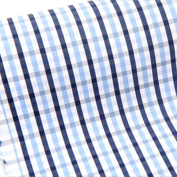 Egyptian Cotton Black and Blue Checks 3