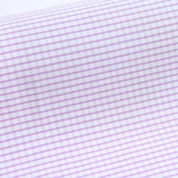 Egyptian Cotton Lilac Checks