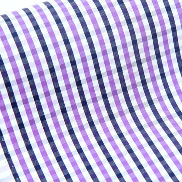 Egyptian Cotton Purple & Black Checks