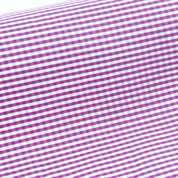 Egyptian Cotton Purple & White Checks 5