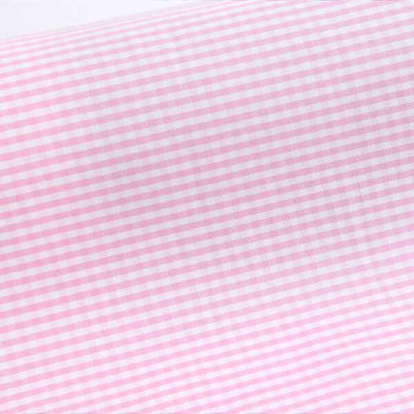 Egyptian Cotton Soft Pink Checks 7